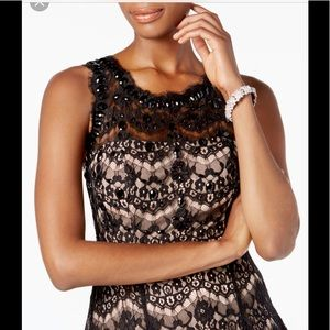 Betsy & Adam lace fit and flare dres